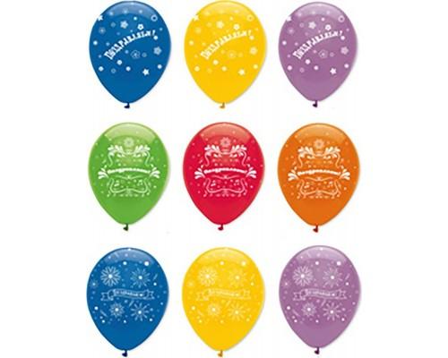 Воздушные шары Поздравляем! ассорти 29см. 1шт.