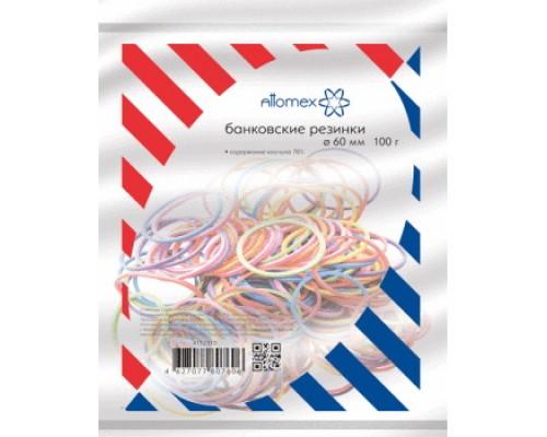 Банковская резинка 100г. Attomex 60мм цветные