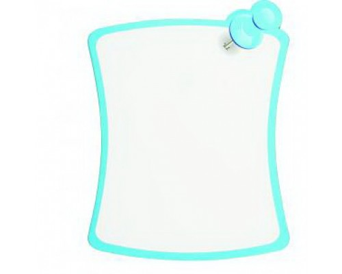 Доска для рисования маркером 200*260 мм, цвет белый, ламинированный картон