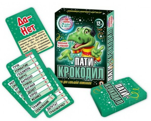 """Настольная игра """"Пати-Крокодил"""" 12+"""