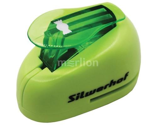 Дырокол фигурный Silwerhof Конфета пластиковый зеленый 1 отверстие
