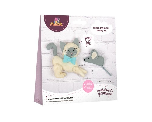 """Набор для изготовления игрушек """"Miadolla"""" Игривый котенок"""