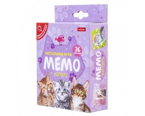 Игра Настольная МЕМО 36 карточек Котята